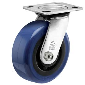 "Bassick Prism Stainless Steel Swivel Caster Eagle Urethane 5"" Dia. by"
