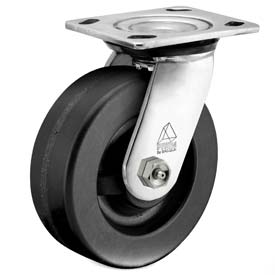 "Bassick Prism Stainless Steel Swivel Caster Phenolic 8"" Dia. by"