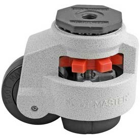 Foot Master® Swivel Stem Manual Leveling Caster GD-100S - 1650 Lb. Cap. - 75mm Dia. Nylon Wheel