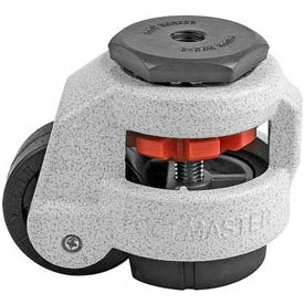 Foot Master® Swivel Stem Manual Leveling Caster GD-60S-1/2 - 550 Lb. - 50mm Dia. Nylon Wheel