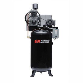 Campbell Hausfeld Two-Stage Electric Air Compressor CE7000, 230V, 7.5HP, 1PH, 80 Gal by