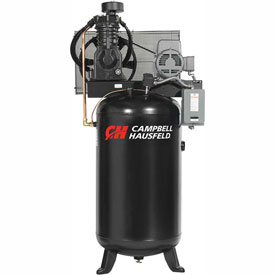 Campbell Hausfeld Two-Stage Electric Air Compressor CE7050, 230V, 5HP, 1PH, 80 Gal by