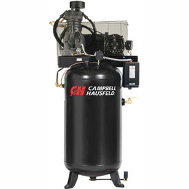 Campbell Hausfeld Two-Stage Electric Air Compressor CE7050FP, 230V, 5HP, 1PH, 80 Gal by