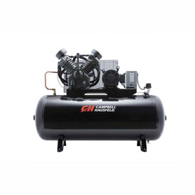 Campbell Hausfeld Two-Stage Electric Air Compressor CE8001, 208V-230V/460V, 10HP, 3PH, 120 Gal