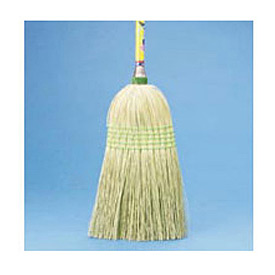 "Parlor Broom Corn Fiber Bristles, 42"" Wood Handle - BWK926CEA"