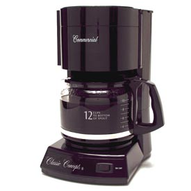 Classic Coffee Concepts CC123 - Coffee Maker, 12-Cup, 2 Hour Safety Shut-Off, Black