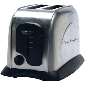 Classic Coffee Concepts TO103A Toaster, 2-Slice, Electronic, Auto Shut-Off, Stainless Steel by