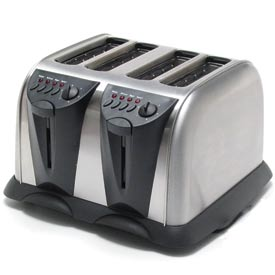 Classic Coffee Concepts TO110A 4-Slice Electronic Toaster, Heavy Duty, Stainless Steel by