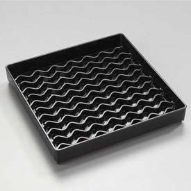 "Carlisle 1102603 Newave Square Drip Tray 6"", Black Package Count 12 by"