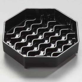 "Carlisle 1103003 Newave Octagon Drip Tray 4"", Black Package Count 12 by"