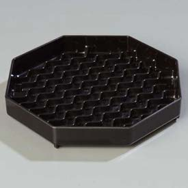 "Carlisle 1103603 Newave Octagon Drip Tray 6"", Black Package Count 12 by"
