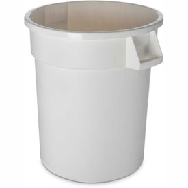 Bronco™ Waste Container 32 Gal - White - Pkg Qty 4