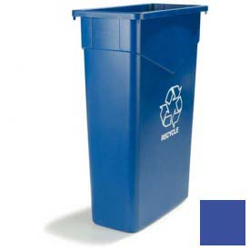 Carlisle 342023REC14 Trimline Recycling Can 23 Gallon Blue by
