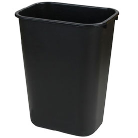 Office Waste Basket 13-5/8 Qt Black Package Count 12 by