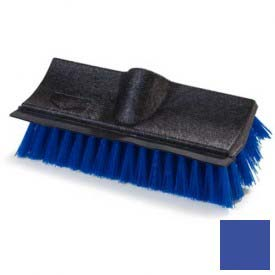 "Flo-Pac Dual Surface Poly-P Floor Scrub w/ Rubber Squeegee 10"" Blue Package Count 12 by"