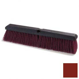 "Flo-Pac Coarse/Heavy Floor Sweep W/Stiff Polypropylene 18"" Maroon Package Count 12 by"