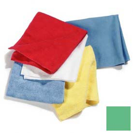 "Terry Microfiber Cleaning Cloth 16"" X 16"" - Green - 3633409 - Pkg Qty 12"