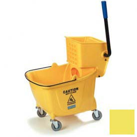 Flo-Pac Bucket With Side Press Wringer 26-35 qt Yellow by