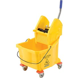Carlisle® Flo-Pac® Bucket With Down Press Wringer 3690504, 26-35 Qt - Yellow