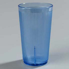 Carlisle 401254 Crystalon Stack-All SAN Tumbler 12 Oz., Blue, Ribbed Texture Package Count... by