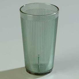 Carlisle 401264 Crystalon Stack-All SAN Tumbler 12 Oz., Jade, Ribbed Texture Package Count... by