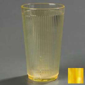Carlisle 403422 Crystalon Tumbler RW20-1, 16 Oz., Glo-Honey Yellow by