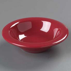 """Carlisle 4304258 Durus Rimmed Fruit Bowl 4.2 Oz., 4-27/32"""", Roma Red Package Count 48 by"""