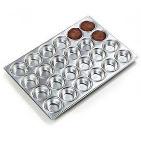 Carlisle 602424 Muffin Pan 3 Oz., Aluminum, 24 Cup Package Count 12 by