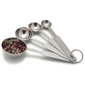 Carlisle 604300 Heavy Weight Measuring Spoons Set, Stainless Steel Package Count 12 by