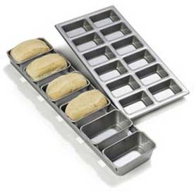 Carlisle 606902 Steeluminum 6 Loaf Mini Loaf Pan, 17-1/2 Oz. by