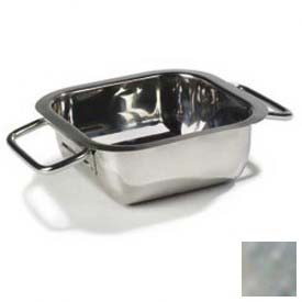 """Carlisle 609086 Square Display Dish, 14-3/16"""", Stainless Steel by"""