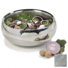 """Click here to buy Carlisle 609208 Serving Bowl W/Hammered Finish, 2-1/2 Qt., 9-1/4"""", Stainless Steel."""