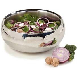 """Click here to buy Carlisle 609209 Serving Bowl W/Hammered Finish 4.38 Qt., 10-3/4"""", Stainless Steel Package Count 2."""