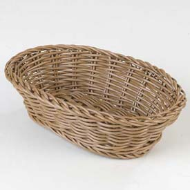 "Carlisle 655025 Woven Baskets Oval Basket Small 9"", Caramel Package Count 6 by"