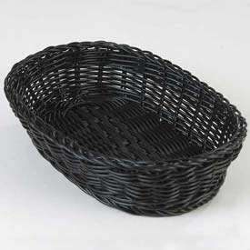 "Carlisle 655103 Woven Baskets Oval Basket 11.5"", Black Package Count 6 by"