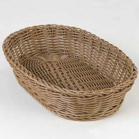 "Carlisle 655125 Woven Baskets Oval Basket 11.5"", Tan Package Count 6 by"