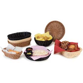 "Carlisle 655203 Woven Baskets Rectangular Basket 11.5"", Black Package Count 6 by"