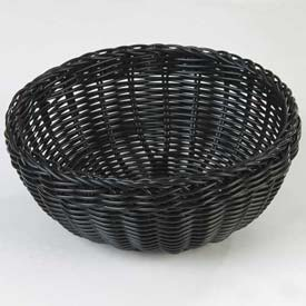 "Carlisle 655303 Woven Baskets Round Basket 9"", Black Package Count 6 by"
