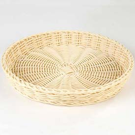 "Carlisle 655406 Woven Baskets Medium Round Basket 11"", Oatmeal Package Count 6 by"