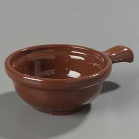 "Carlisle 700828 Handled Soup Bowl 12 Oz., 5-1/4"", Lennox Brown Package Count 24 by"