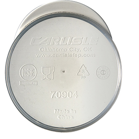 Click here to buy Carlisle 7090402 Flat Lid For Carafe White Package Count 12.
