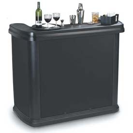 "Carlisle 755003 Maximizer Portable Bar 56"", 26-1/2"", 48-1/2"", Black by"