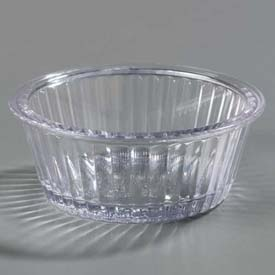 Carlisle 084507 Fluted Ramekin 4.5 Oz., Clear Package Count 48 by