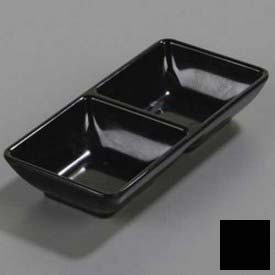 "Carlisle 86203 Double Square Ramekin, 4 Oz., 5-3/4"" x 2-3/4"", Black by"