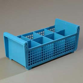 Carlisle C32P114 Opticlean Flatware Basket Without Handles, Carlisle Blue Package Count 6 by