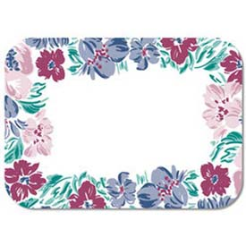 "Dinex DX5055I202833 Jane's Bouquet Pattern W/Straight Edge Round Corner, 12-3/4""x16-5/8"", 1000/Cs by"