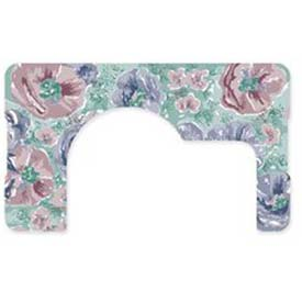 """Dinex DX5312X122733 Whispering Floral Design Traycover, Straight Edge, 12-1/8"""" x 20-3/4"""" by"""
