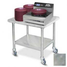 "Click here to buy Dinex DXICTABLE Table For Induction Charger, 30""L x 24""D, Stainless Steel."
