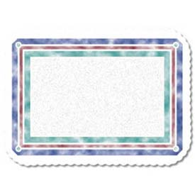 """Dinex DXR30001M Illusions Pattern Tray Cover W/Scalloped Edge Round Corner, 13-5/8"""" x... by"""