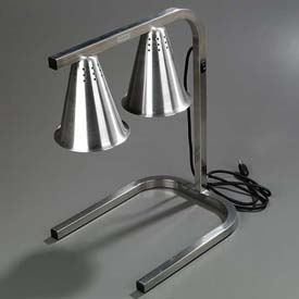 Carlisle HL723700 Two Bulb Free Standing Adjustable Heat Lamp, Aluminum by